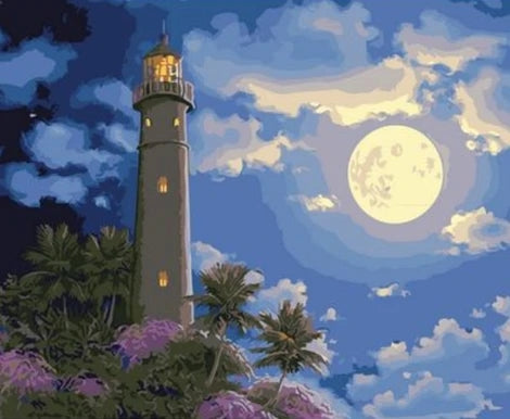 Sky Landscape Diy Moon Paint By Numbers Kits FD250