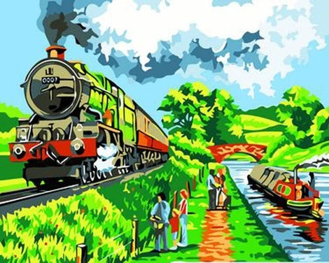Train Diy Paint By Numbers Kits UK VE0054