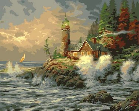 Lighthouse Diy Paint By Numbers Kits UK BU0035