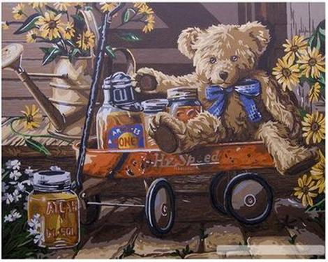 Teddy Bear Diy Paint By Numbers Kits UK AN0520