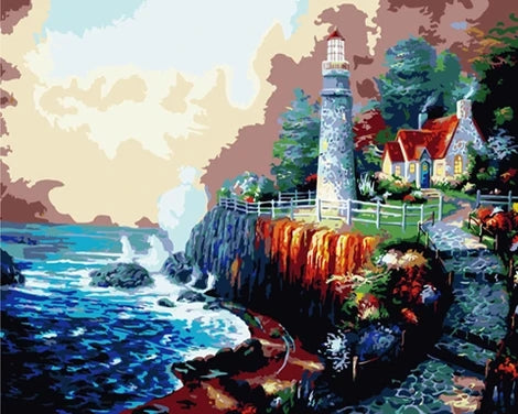 Lighthouse Diy Paint By Numbers Kits UK BU0050