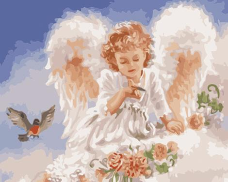 Angel Paint by Numbers Kits UK PO0152