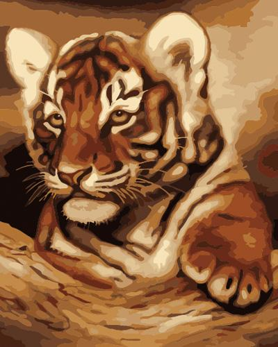Animal Tiger Diy Paint By Numbers Kits UK AN0359