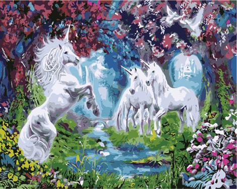 Unicorn Diy Paint By Numbers Kits UK FK280