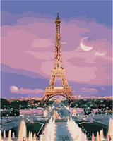 Landscape Eiffel Tower Diy Paint By Numbers Kits LS260
