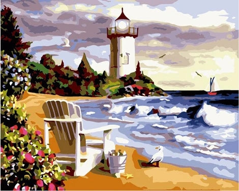 Lighthouse Diy Paint By Numbers Kits UK BU0045