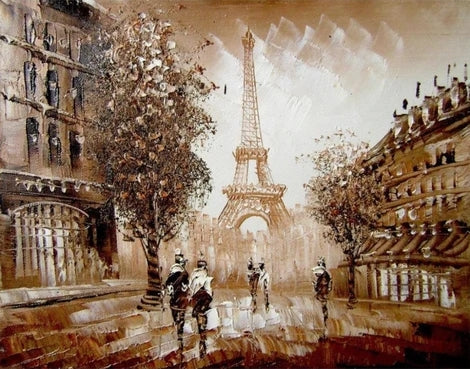 Landscape Eiffel Tower Diy Paint By Numbers Kits LS295