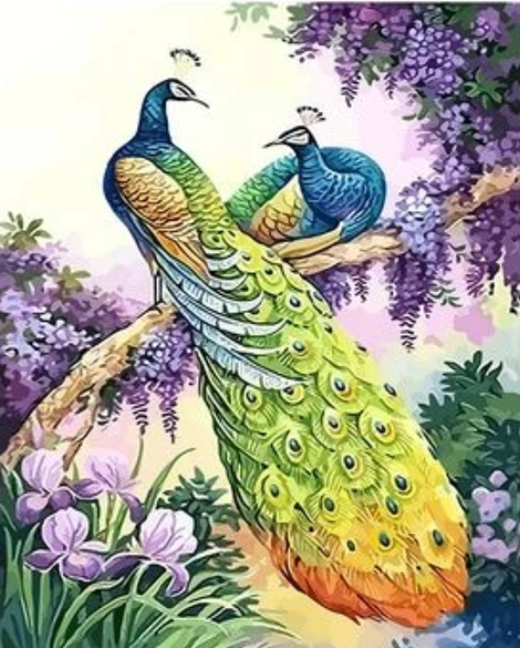 Animal Peacock Diy Paint By Numbers Kits UK AN0687