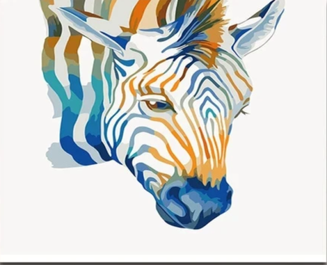 Zebra Diy Paint By Numbers Kits UK AN0802