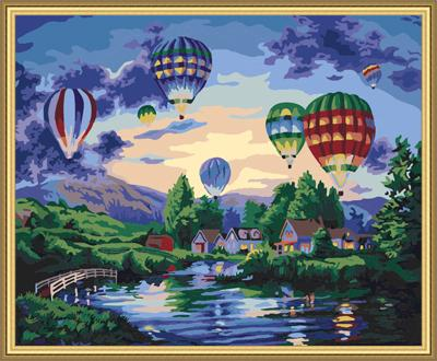 Hot Air Balloon Diy Paint By Numbers Kits UK PP0168