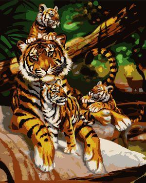 Animal Tiger Diy Paint By Numbers Kits UK AN0363