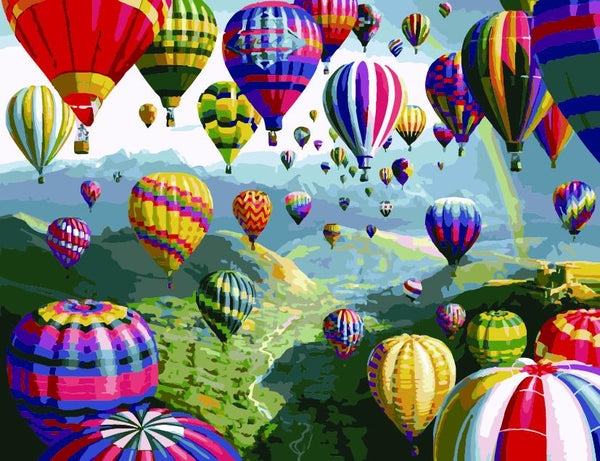 Hot Air Balloon Diy Paint By Numbers Kits UK PP0032