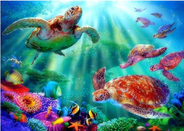 Turtle Diy Paint By Numbers Kits Diy UK MA088