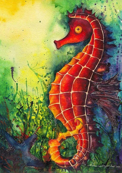 Seahorse Diy Paint By Numbers Kits UK MA113