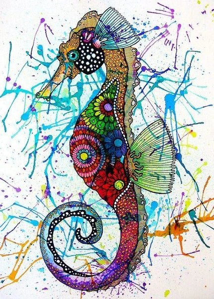 Colorful Diy Seahorse Paint By Numbers Kits UK MA115