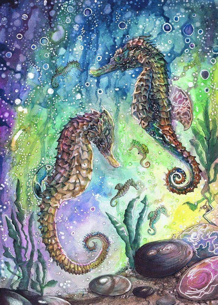 Beautiful Diy Seahorse Paint By Numbers Kits UK MA116