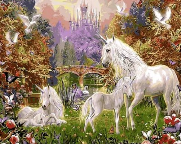 Unicorn Diy Paint By Numbers Kits UK FK272