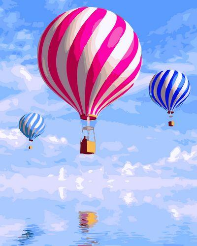 Pattern Hot Air Balloon Paint By Numbers Kits UK PP0066