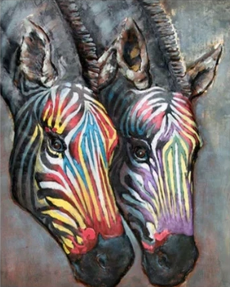 Zebra Diy Paint By Numbers Kits UK AN0788