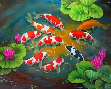 Fish Diy Paint By Numbers Kits UK PE0070