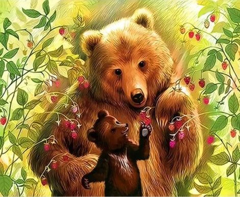 Bear Diy Paint By Numbers Kits UK AN0529