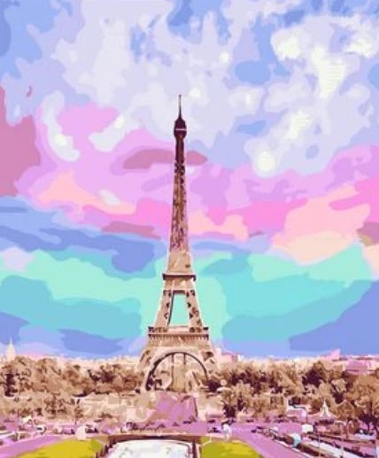 Diy Eiffel Tower Paint By Numbers Kits LS299