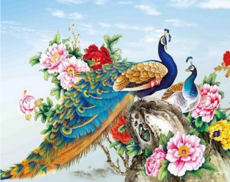 Animal Peacock Diy Paint By Numbers Kits UK AN0676