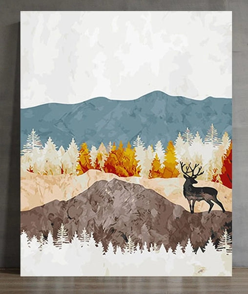 Diy Mountain Paint By Numbers Kits UK LS078