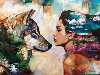 Dog And Girl Portrait Diy Paint By Numbers Kits UK PO0304
