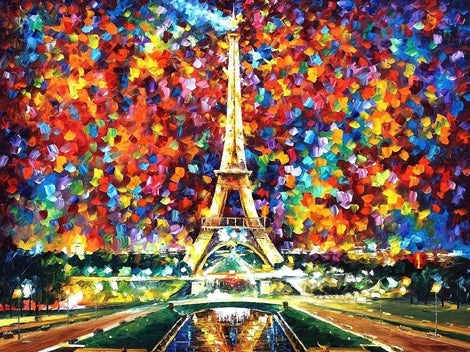 Scenery Eiffel Tower Diy Paint By Numbers Kits LS261