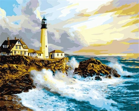 DIY Lighthouse Paint By Numbers Kits UK LS010