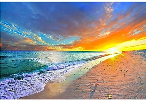 Sunset Landscape Sea Diy Paint By Numbers Kits UK LS039