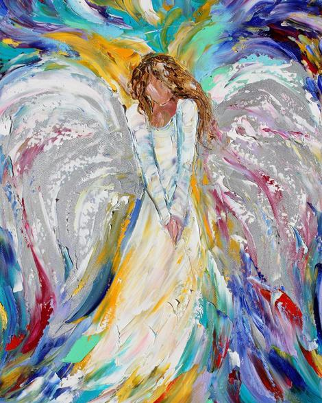 Angel Diy Paint By Numbers Kits For Adults UK PO0100
