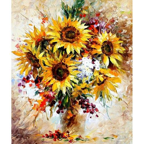 Flower Sunflower Paint By Numbers Kits UK PP0056