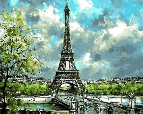 Landscape Eiffel Tower Diy Paint By Numbers Kits LS274