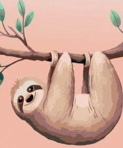 Cartoon Sloth Diy Paint By Numbers Kits UK For Kids CA001