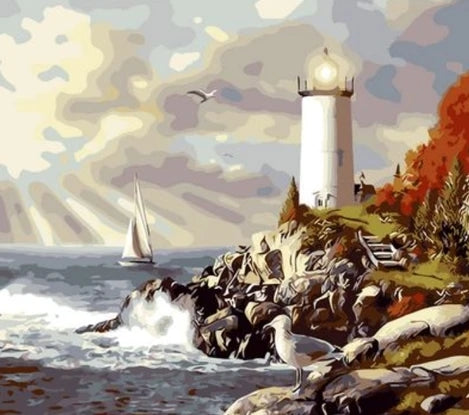 Lighthouse Diy Paint By Numbers Kits UK BU0042
