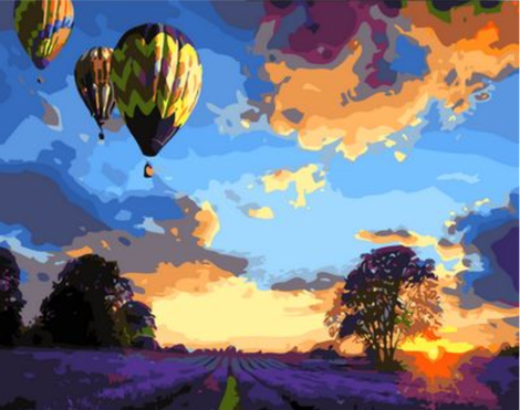 Hot Air Balloon Diy Paint By Numbers Kits UK PP0170
