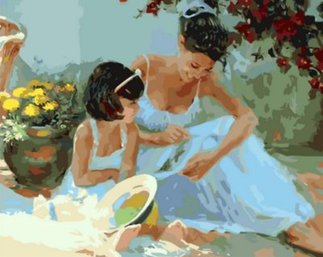 Mother And Daughter Diy Paint By Numbers Kits UK PO0478