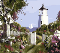 Lighthouse Diy Paint By Numbers Kits UK BU0023