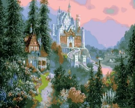 Landscape Castle Diy Paint By Numbers Kits UK BU0089