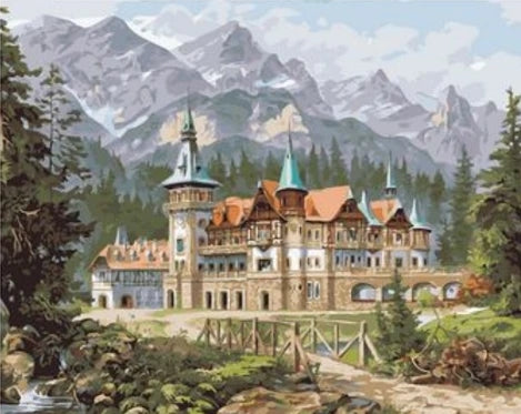 Landscape Castle Diy Paint By Numbers Kits UK BU0084