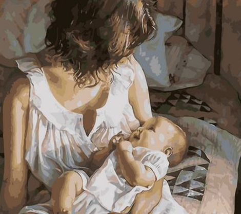 Mother And Baby Diy Paint By Numbers Kits UK PO0477
