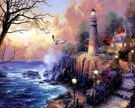 Lighthouse Diy Paint By Numbers Kits UK BU0044