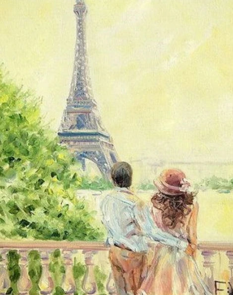 Landscape Eiffel Tower Diy Paint By Numbers Kits LS291