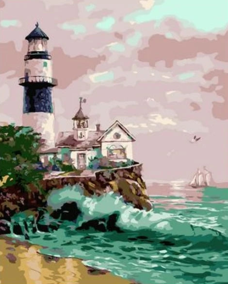 Lighthouse Diy Paint By Numbers Kits UK BU0031