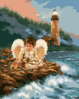 Angel Diy Paint By Numbers Kits For Adults UK PO0164