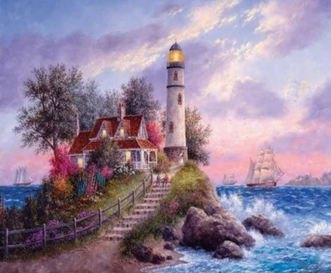 Lighthouse Diy Paint By Numbers Kits UK BU0039