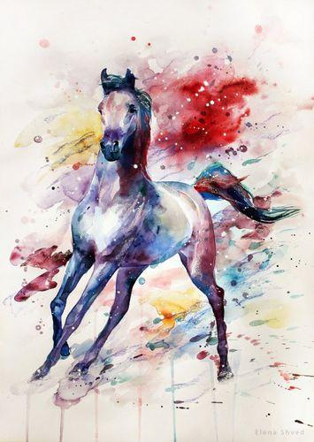Animal Horse Diy Paint By Numbers Kits UK AN0260