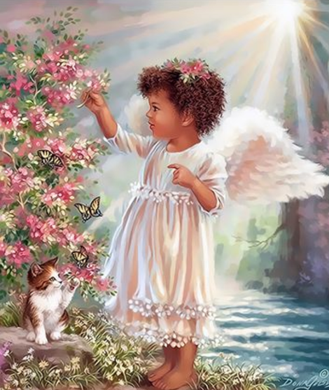 Angel Diy Paint By Numbers Kits UK PO0195